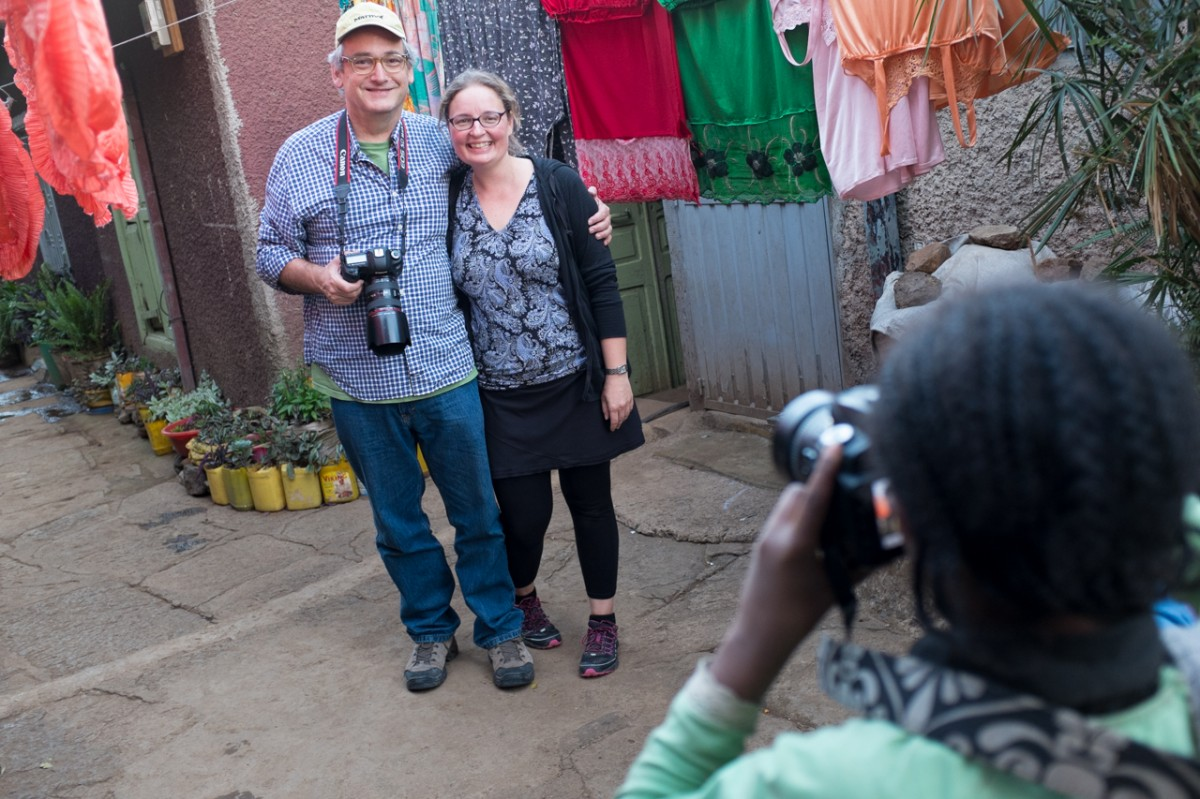 Heather and Steve in Addis Ababa, Ethiopia